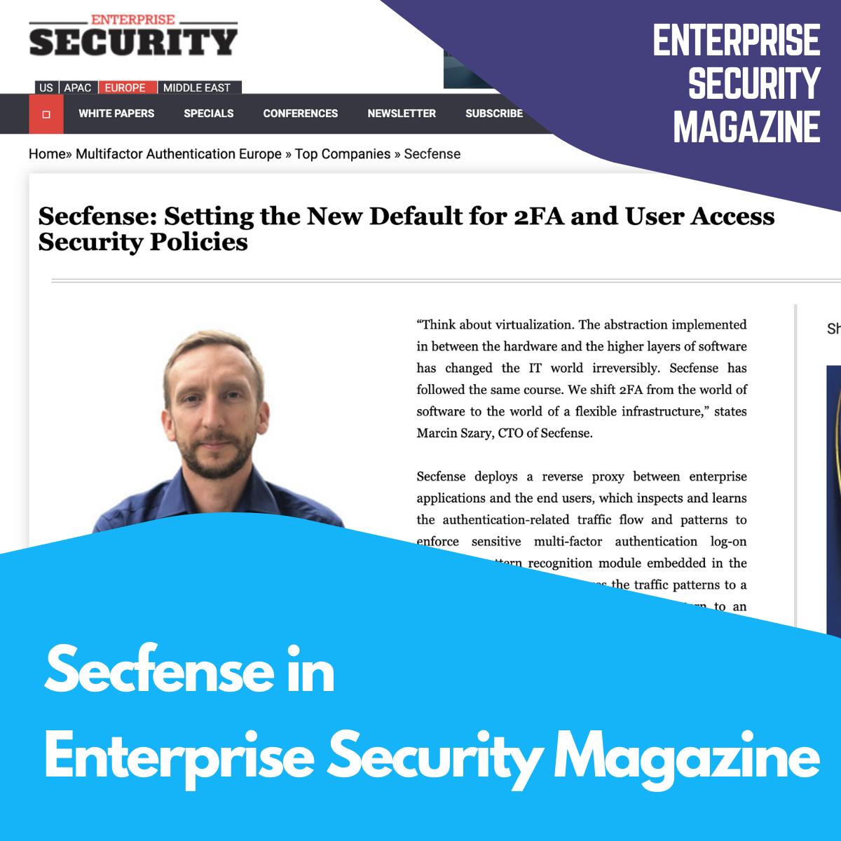 Enterprise Security Magazine about Secfense