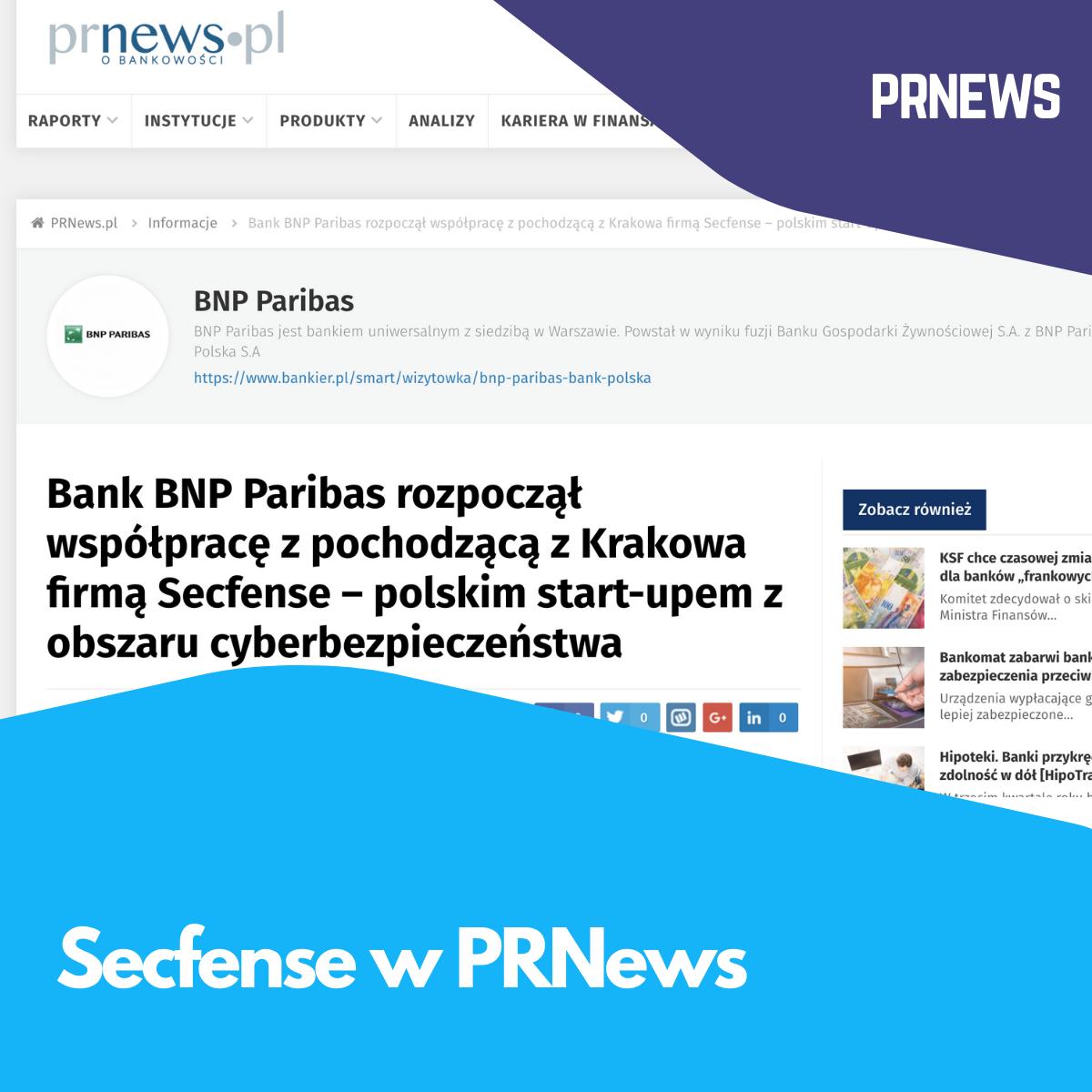 Secfense w PRNews