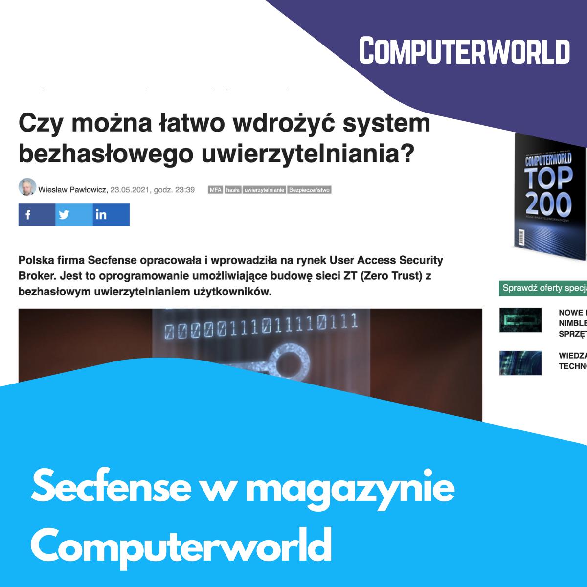 Secfense w magazynie Computerworld