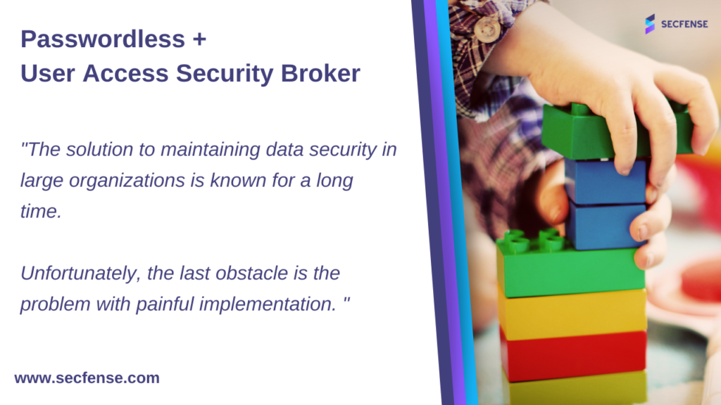 Passwordless + Secfense User Access Security Broker
