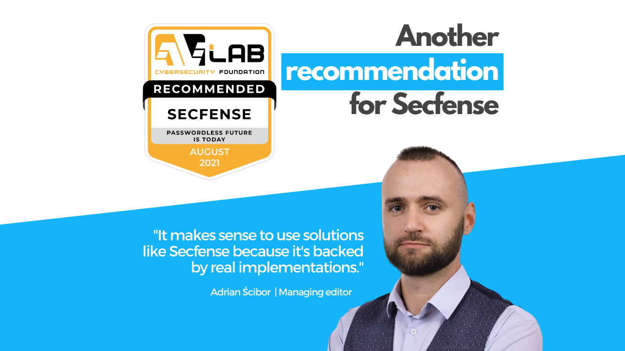 Recommendation for Secfense from the AVLab Foundation for Cybersecurity