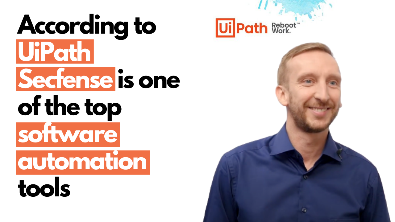 Secfense Finalist of the UiPath Automation Awards 2020