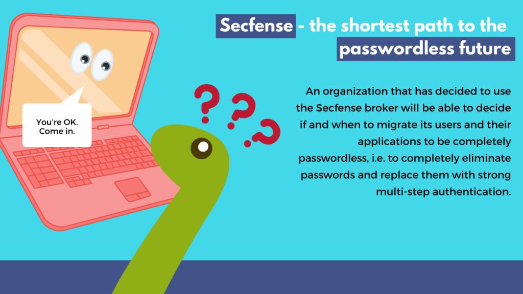 Secfense - the shortest path to the passwordless future
