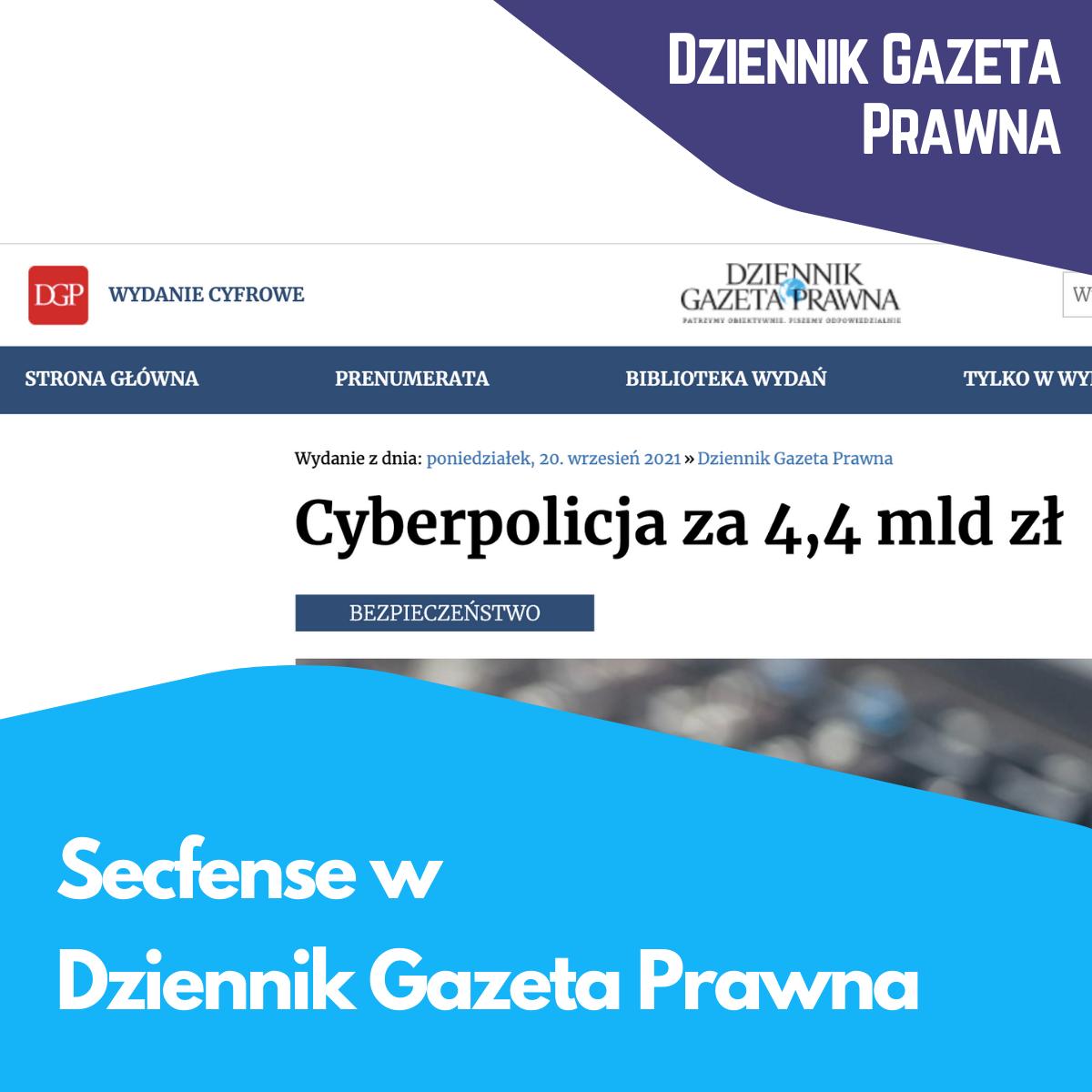 Secfense w Dziennik Gazeta Prawna