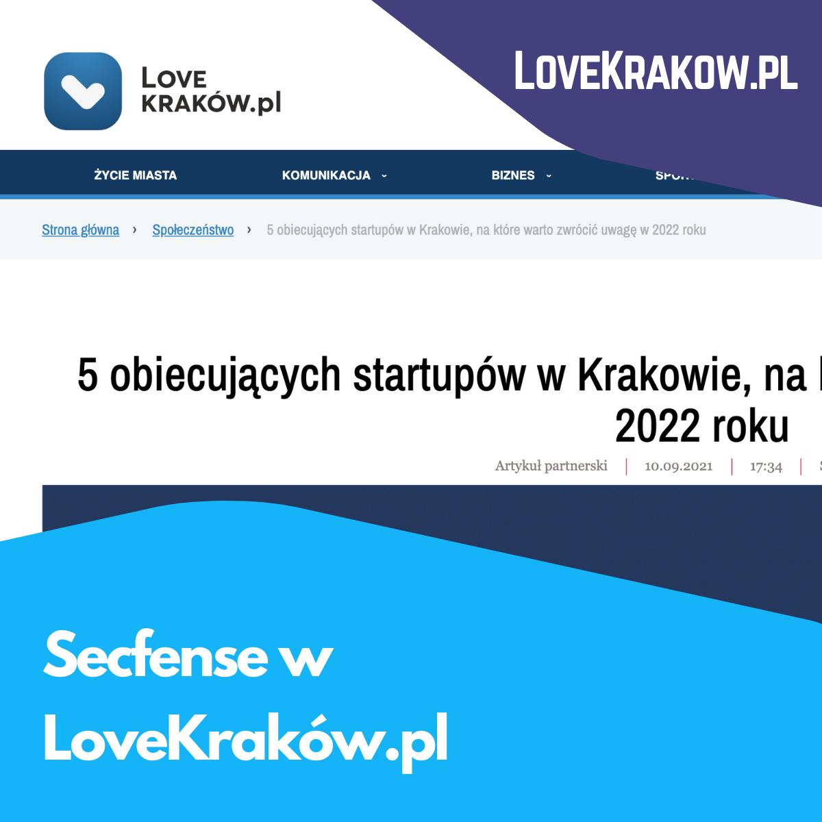 Secfense w LoveKraków.pl