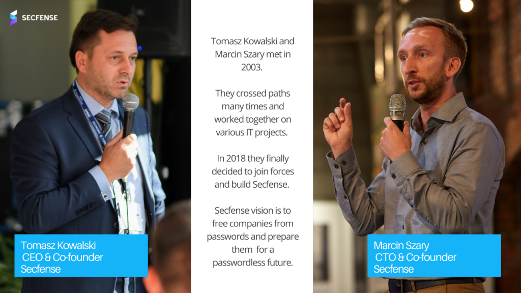 Tomasz Kowalski and Marcin Szary cofounders of Secfense