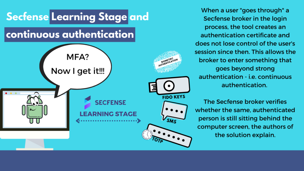 Secfense Learning Stage and continuous authentication