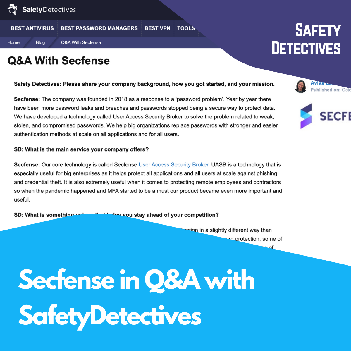 Secfense in Q&A with SafetyDetectives